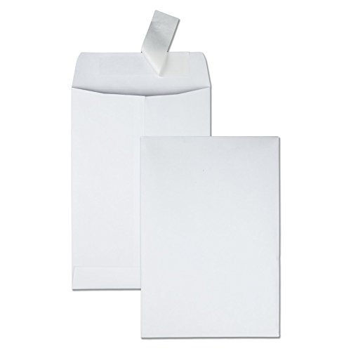 Quality Park Redi Strip Catalog Envelope, 6 1/2 x 9 1/2, White, 100/Box - Standard Usps First Package Class Shipping