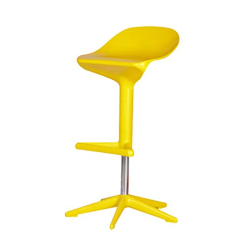 Swivel Express Adjustable Stool Height (Bar Chair Creative Lifting High Bar Chair Rotating High Stool Simple Coffee Bar Chair Front Chair/White, red, Yellow, Black/Height-Adjustable Swivel Chair Bar Stool (Color : Yellow))