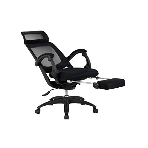 Smugdesk Office Ergonomic High Back Mesh Recliner Office Chair with Footrest