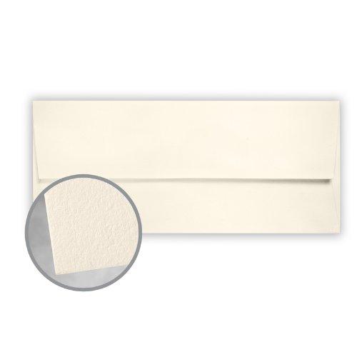 CRANE'S LETTRA Pearl White Envelopes - No. 10 Square Flap (4 1/8 x 9 1/2) 32 lb Writing Lettra 100% Cotton 200 per Box by Neenah
