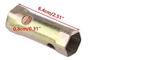 Allumage Spark Plug Socket 20mm et 18mm Double Fin Hex Tubular Box Cl/é Cl/é R/éparation Outil pour Moto R/éparation Automobile Plomberie Maintenance Travail