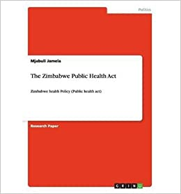 Book The Zimbabwe Public Health Act- Common