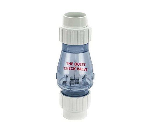 1-1/2-Inch PVC Check Valve with Unions (Clear, (High Flow Check Valve)