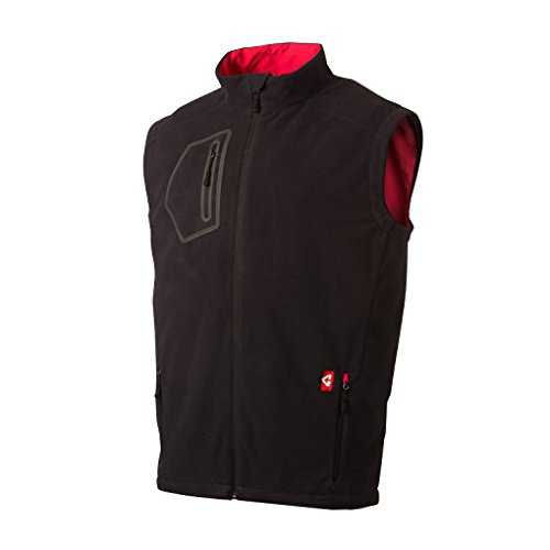 Gerbing's Men's Mountain Sport Fleece Heated Vest - Black/Red-M