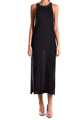 LANEUS Damen ABD1401BLACK Schwarz Baumwolle Kleid