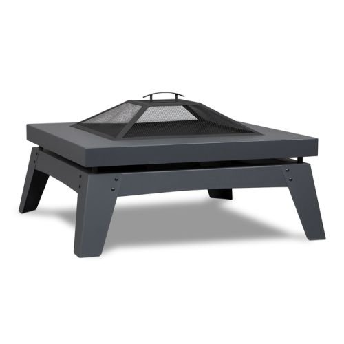 Real Flame 940-GRY Breton Wood Burning Fire Pit in Gray (Burning Barbecue Wood)