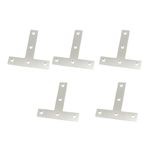 5 Pcs Angle Plate Corner Brace Flat T Shape Repair Bracket 80mm x 80mm