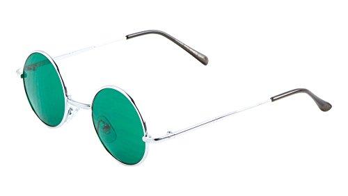 641ea33e37f Galleon - Harry Porter Round Sunglasses John Lennon Ozzy Osbourne Flat Lens  (Green
