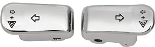 Orange Cycle Parts Turn Signal Switch Extensions Chrome Pair for Harley 2000-2013 H-D Models (except 2011-2013 Softail, 2012-2013 Dyna, 2008-2013 FLHT, FLHR, FLTR, FLHX and H-D FL Trikes)