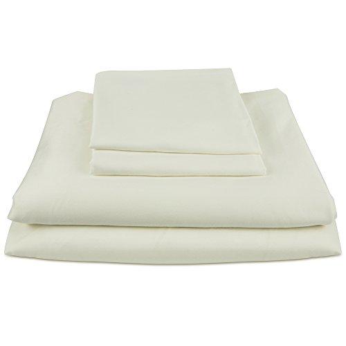 Bamboo Sheets INTERNATIONAL Premium 100% viscose bamboo sheet set in King Cream. BSI-K-Crm. luxury bamboo bed sheets with deep pocket design are the perfect pillow top mattress (Silk Pillow Top Mattress)