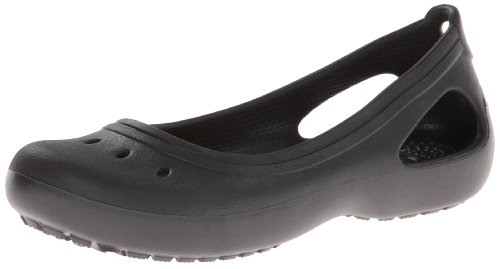 crocs Kadee GS Flat (Little Kid/Big Kid),Black,1 M US Little Kid by Crocs