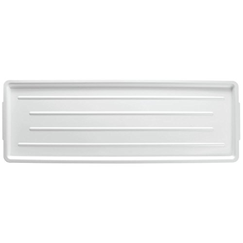 Meat Case Trays White Plastic Ribbed - 30'' L x 10'' W x 3/4 H by CHANNEL MANUFACTURING INC