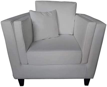 Square Shape White Single Sofa Buy Online At Best Price In