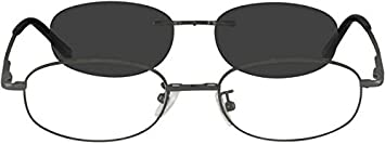 51f196940aec1 Image Unavailable. Image not available for. Color  584312 Metal Alloy  Spring Hinge Frame with Polarized Magnetic Snap-on Sunlens