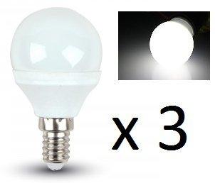 LED P45 bombillas – paquete de 3 – E14 rosca pequeña – 4 W/180