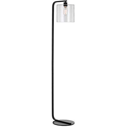 Af Lighting Modern Floor Lamp - AF Lighting 9117-FL Lowell Floor Lamp with Clear Glass Globe, Black