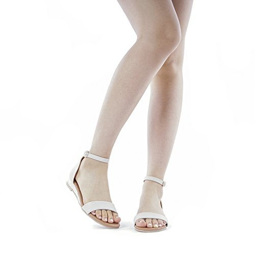 DREAM PAIRS Women's Formosa_10 Nude Low Platform Wedges Ankle Strap Sandals Size 8 B(M) US by DREAM PAIRS (Image #6)