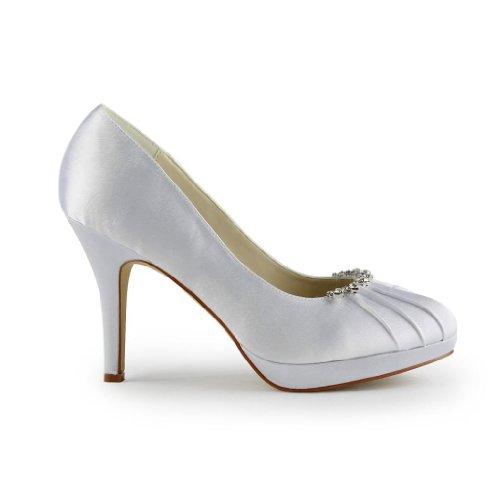 Jia col Bianco Scarpe 37022 tacco Jia donna Scarpe Sposa Wedding pwnARrqxp