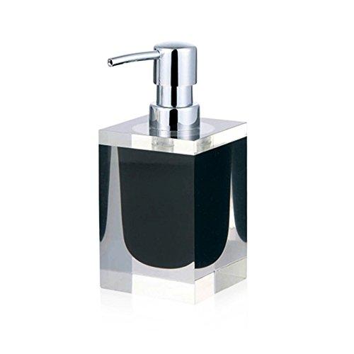 DULPLAY Resin Soap Dispenser, Hand sanitizer Bottle Glass Bottle Shower Dispenser Bathroom Manual Double Head Hotel Home -B ()