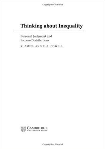 Book Thinking about Inequality: Personal Judgment and Income Distributions
