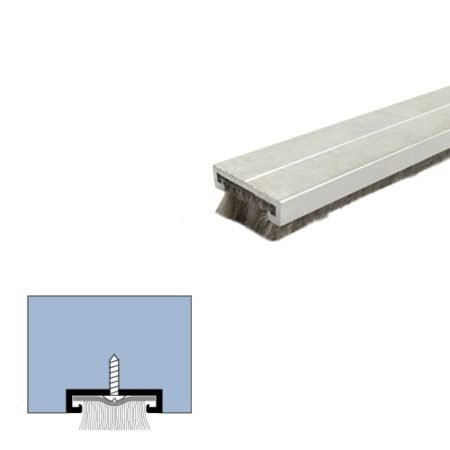 Legacy Manufacturing, LLC. Mill Aluminum Mortised Door Bottom Sweep Pile Brush Seal (7452MA) in (60''), SMS # 6 x 1/2'' Supplied