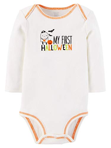 Carter's Just One You Neutral Baby Halloween Bodysuit (9 Months, WhiteMy First Halloween) ()