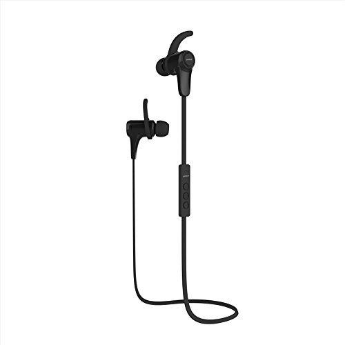 Anguo Bluetooth Headphones Magnetic Wireless Earbuds Sport in-Ear Sweatproof Earphones with Mic & APT-X for iPhone 7 6S Plus,Galaxy S6 S7 Edge and Other(Black)