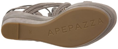 Grey Apepazza Apepazza Sandal Womens Panarea Womens Wedge YTBvqw
