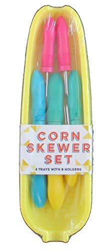 Nantucket 12 Piece Corn Skewer Set (Yellow - 9.375 Dinner Inch