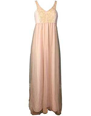 BCBGeneration Sleeveless Tuile Skirt Gown, Faded Rose