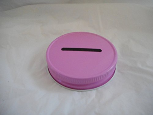 Metal Mason Jar Coin Lid - Pink Single Pack