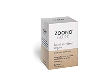 Zoono Antibacterial Wipes Hand Sanitiser Wipes 24 Hour