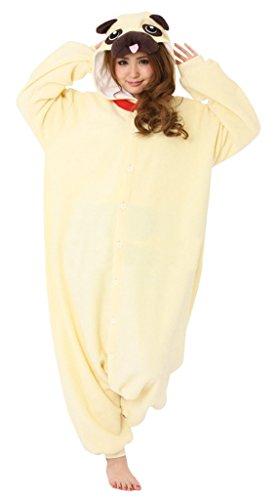[Gillbro Anime Adult Animal Cosplay Costume Pajamas,Pug,XL] (Disney Cartoon Mad Hatter Costume)