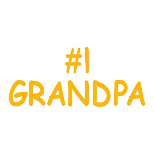 Number 1 Grandpa Heat Transfers - Yellow OSFM