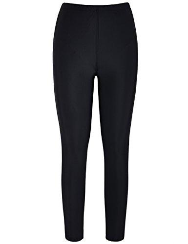 Drawstring Tights (Mycoco Women's UV 50+ Rash Guard Pants Swim Leggings Surfing Tight Black 10)