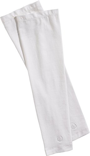 Coolibar UPF 50+ Men's Sun Sleeves - Sun Protective (XX-Large- White)