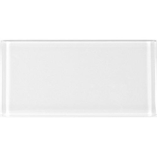 Abolos AMZMET0306-SN Snow Metro Collection Glass Subway Tile, 3