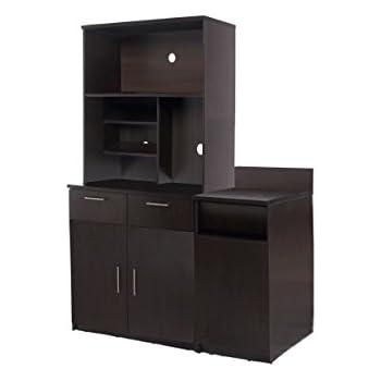 Amazon.com: Homcom - Organizador de madera para despensa de ...