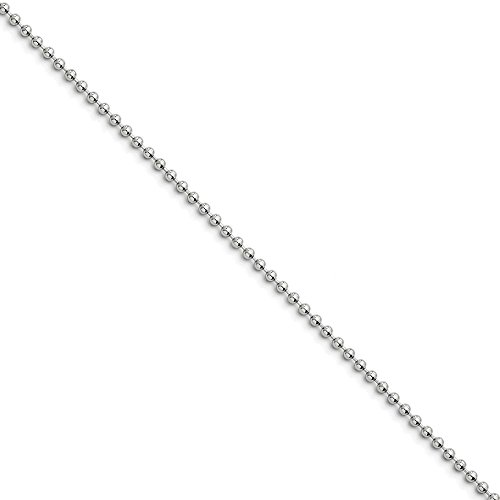 Stainless Steel 2mm Ball Chain 18'' inches (18' Stainless Chain)