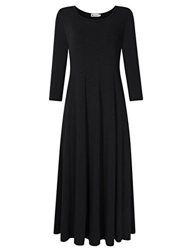 long black polyester dress - 9