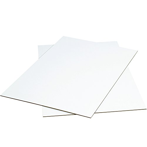 BOX USA BSP2436WSK Corrugated Sheets, 24'' W x 36'' L, White (Pack of 500) by BOX USA