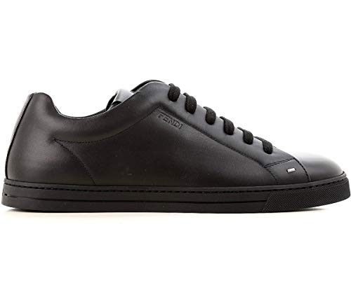 F0QA1 7E1075 Uomo 40 Scarpe 6 Nero Pelle UK in NA7 Sneaker da Lace Fendi up EU 4gS1q1