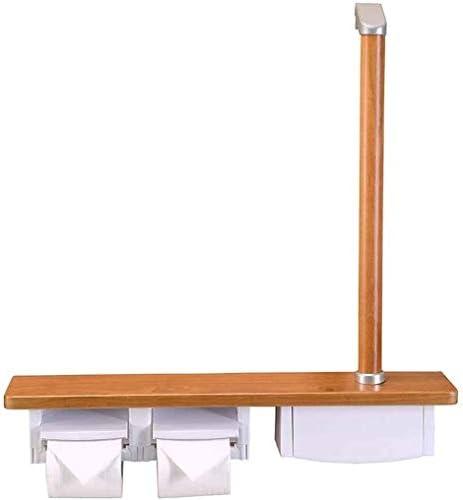 アームレスト〜浴室紙タオルホルダー木製多機能浴室手すり極にハンドル二つのリールコマーシャルタオルラックトイレットペーパーホルダーWCレールシェルフグラブバー、2020年6月9日 (Size : B)