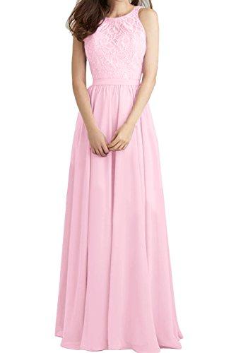 Brautjungfernkleider Abendkleider Rueckenfrei Ivydressing Promkleid Festlich Damen Rosa Ballkleid Lang CwwUqan0