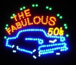 19''x19'' Large the Fabulous 50s Motion LED -
