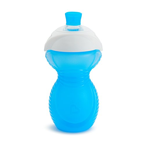 31GAAOdZqqL - Munchkin Click Lock Bite Proof Sippy Cup, Blue/Green, 9 Ounce, 2 Count
