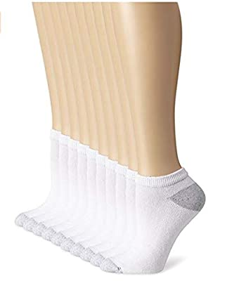 Hanes Cushioned Womens Athletic Socks, Low-Cut, Size 5-9/White