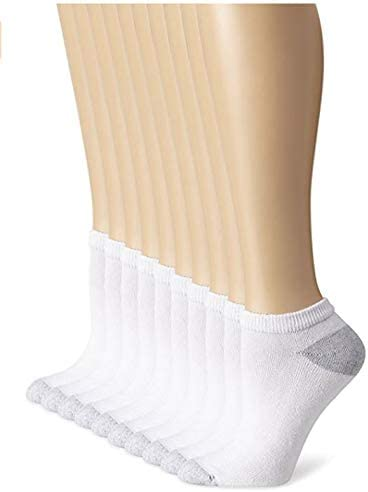 Cushioned Womens Athletic Socks|,| Low-Cut|,| Size 5-9/White|,| 20 Pack