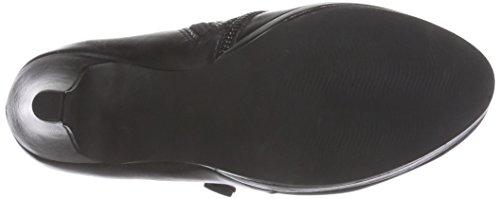 Marco Tozzi Premio 24418 - zapatos de tacón cerrados de cuero mujer negro - Schwarz (Black Antic 002)