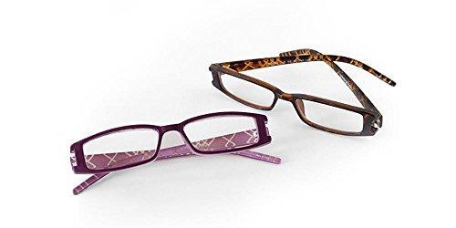 London Fog Designer Reading Glasses for Men & Women 2 PK Readers (Tortoise/ - Glasses Deals Designer